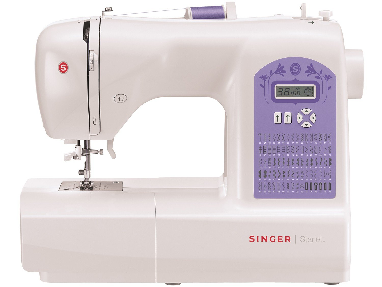 Máquina de Costura Singer Starlet 6680 74 Pontos - Branca/Roxa - 110v - 4