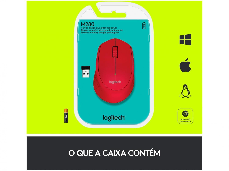 Foto 5 - Mouse Sem Fio Laser 1000dpi - Logitech M280