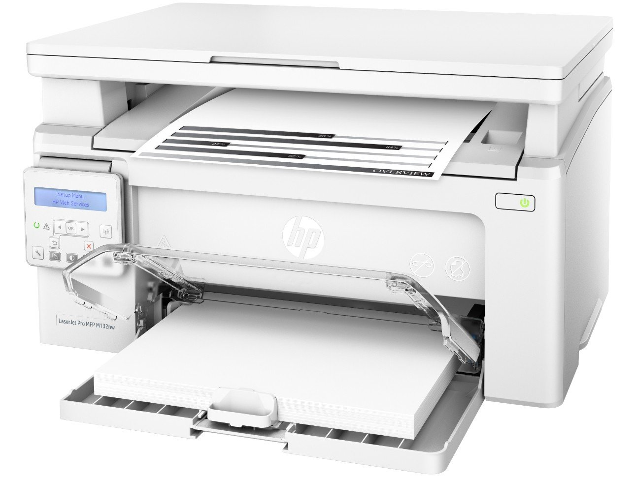 Foto 1 - Impressora Multifuncional HP LaserJet Pro M132nw - Laser Wi-Fi USB