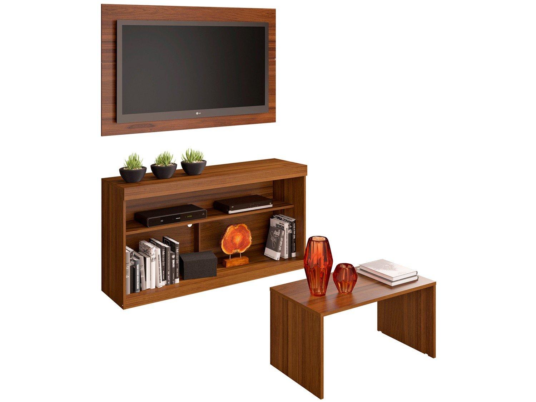 """Rack para TV até 55"""" com Mesa de Centro e Painel - Multimóveis Inovare - 1"""