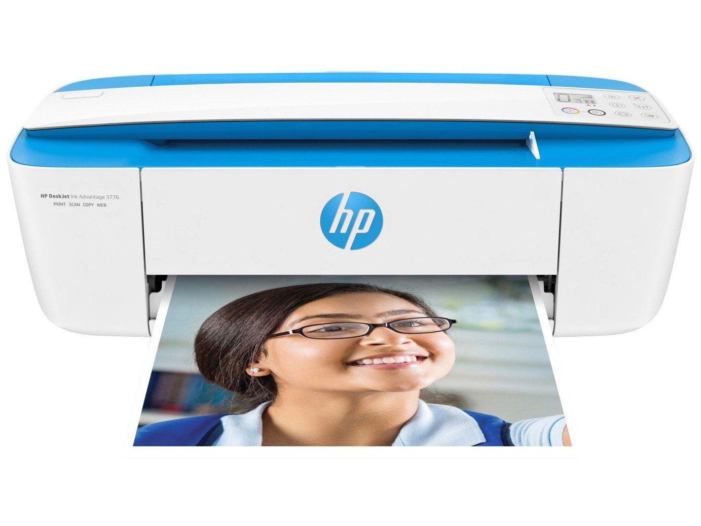 Foto 1 - Impressora Multifuncional HP - DeskJet Ink Advantage 3776 Jato de Tinta Wi-Fi