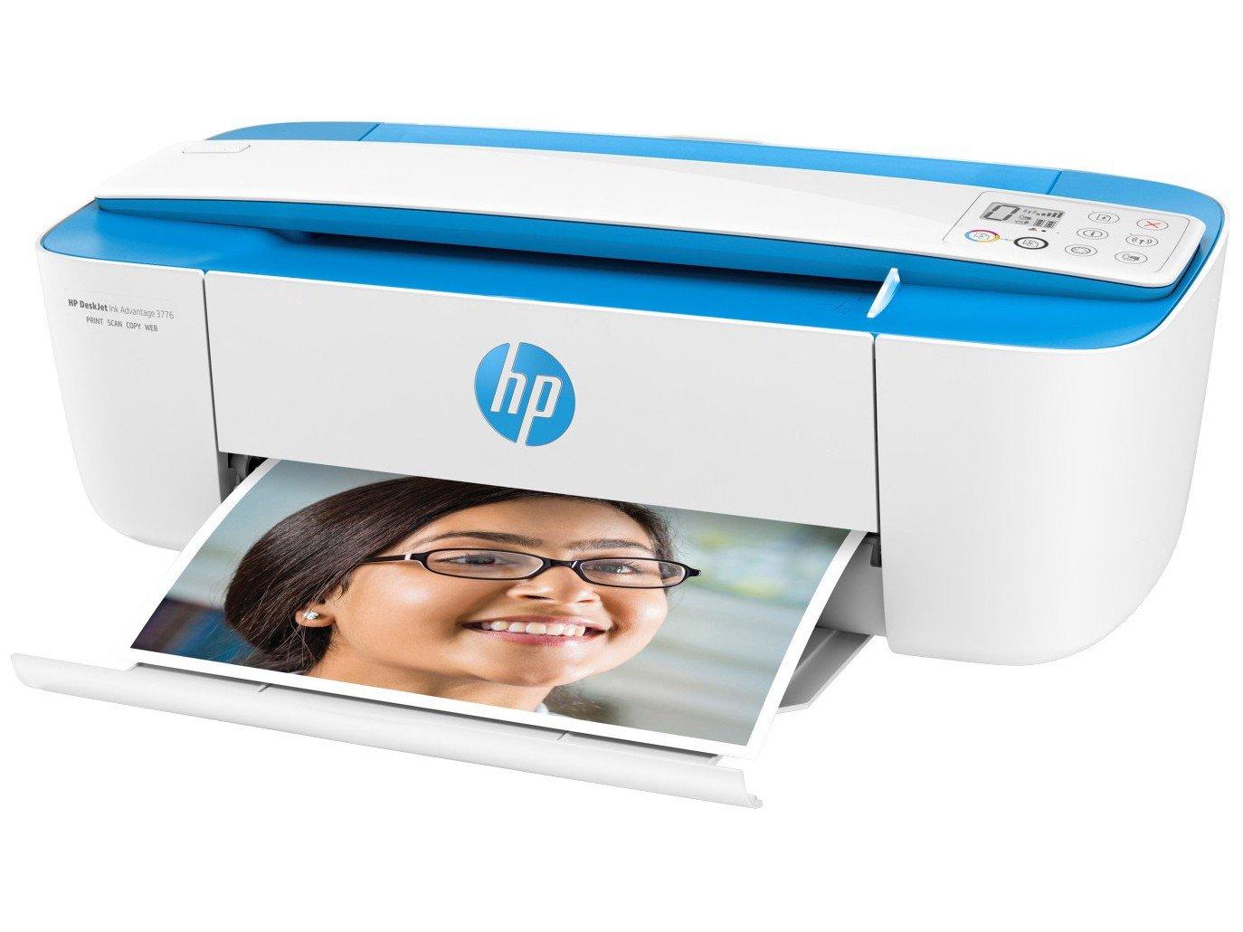 Foto 3 - Multifuncional HP DeskJet Ink Advantage 3776 - Jato de Tinta Display LCD Wi-Fi