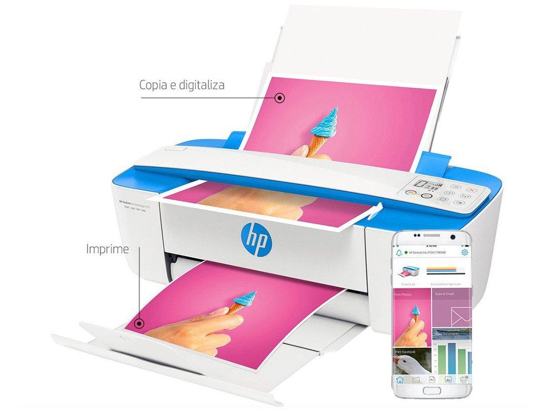 Foto 4 - Multifuncional HP DeskJet Ink Advantage 3776 - Jato de Tinta Display LCD Wi-Fi