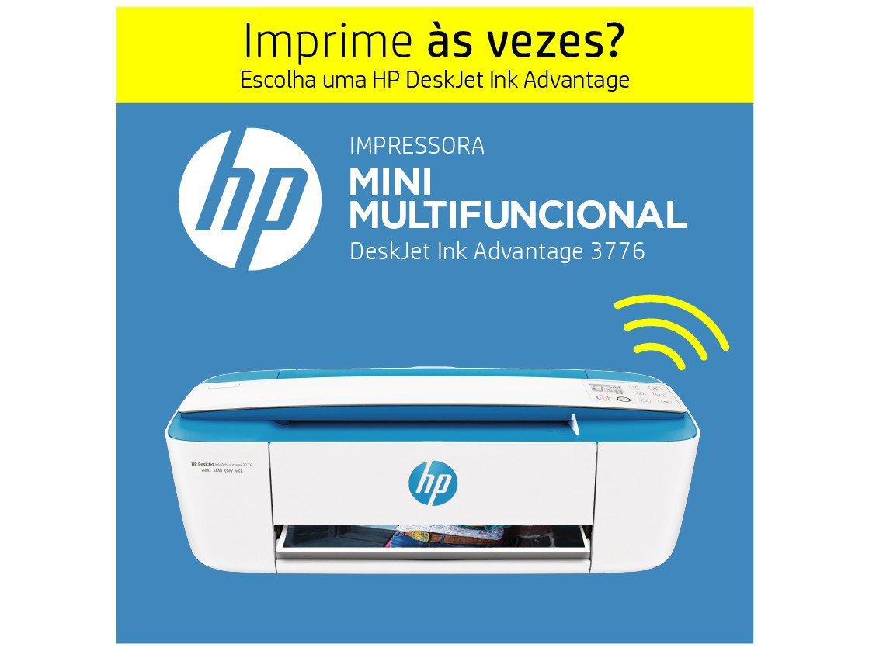Foto 15 - Impressora Multifuncional HP DeskJet Ink 3776 - Jato de Tinta Colorida Wi-Fi