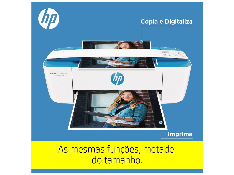 Foto 17 - Impressora Multifuncional HP DeskJet Ink 3776 - Jato de Tinta Colorida Wi-Fi