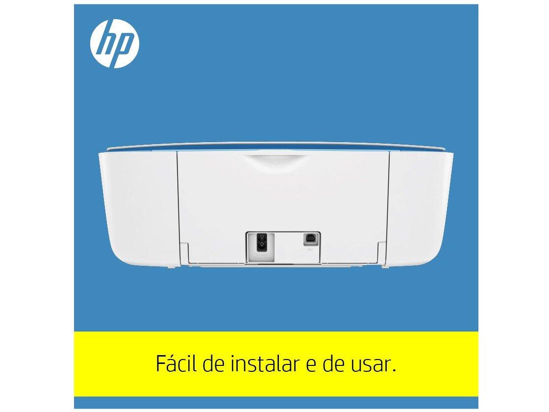 Foto 19 - Impressora Multifuncional HP DeskJet Ink 3776 - Jato de Tinta Colorida Wi-Fi