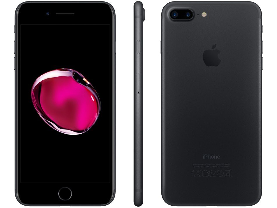 Foto 5 - iPhone 7 Plus Apple 32GB Preto Matte 4G Tela 5.5 - Câm. 12MP + Selfie 7MP iOS 11 Proc. Chip A10