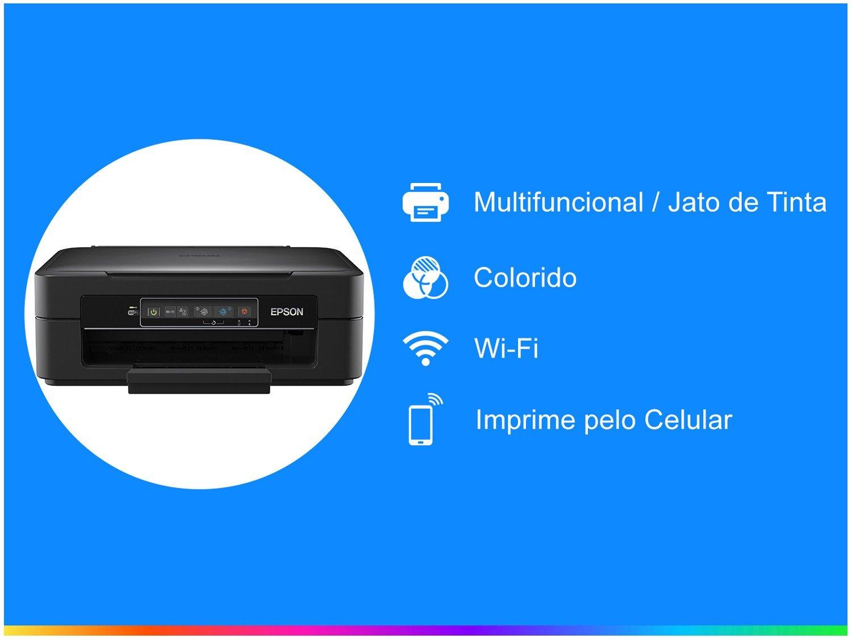 Foto 3 - Impressora Multifuncional Epson Expression XP-241 - Jato de Tinta Colorida Wi-Fi USB