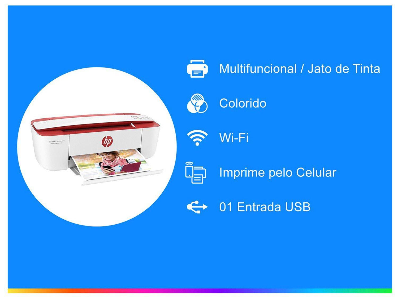 Foto 2 - Impressora Multifuncional HP DeskJet Ink Advantage - 3786 Jato de Tinta Wi-Fi Colorida USB