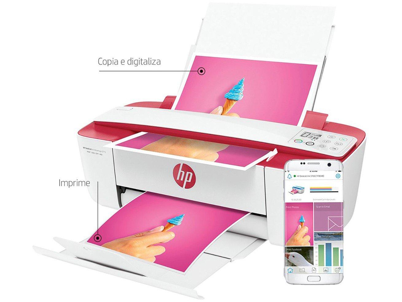 Foto 6 - Impressora Multifuncional HP DeskJet Ink Advantage - 3786 Jato de Tinta Wi-Fi Colorida USB