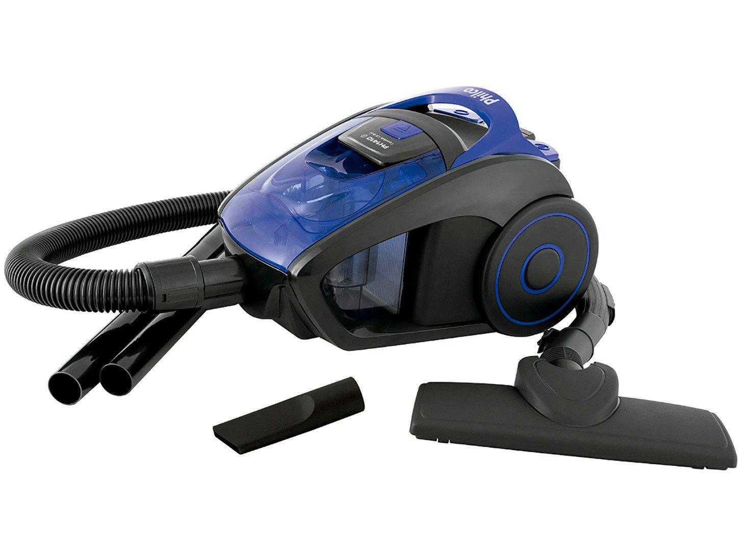 Aspirador de Pó Philco PH1410 1400W - Preto/Azul - 110v