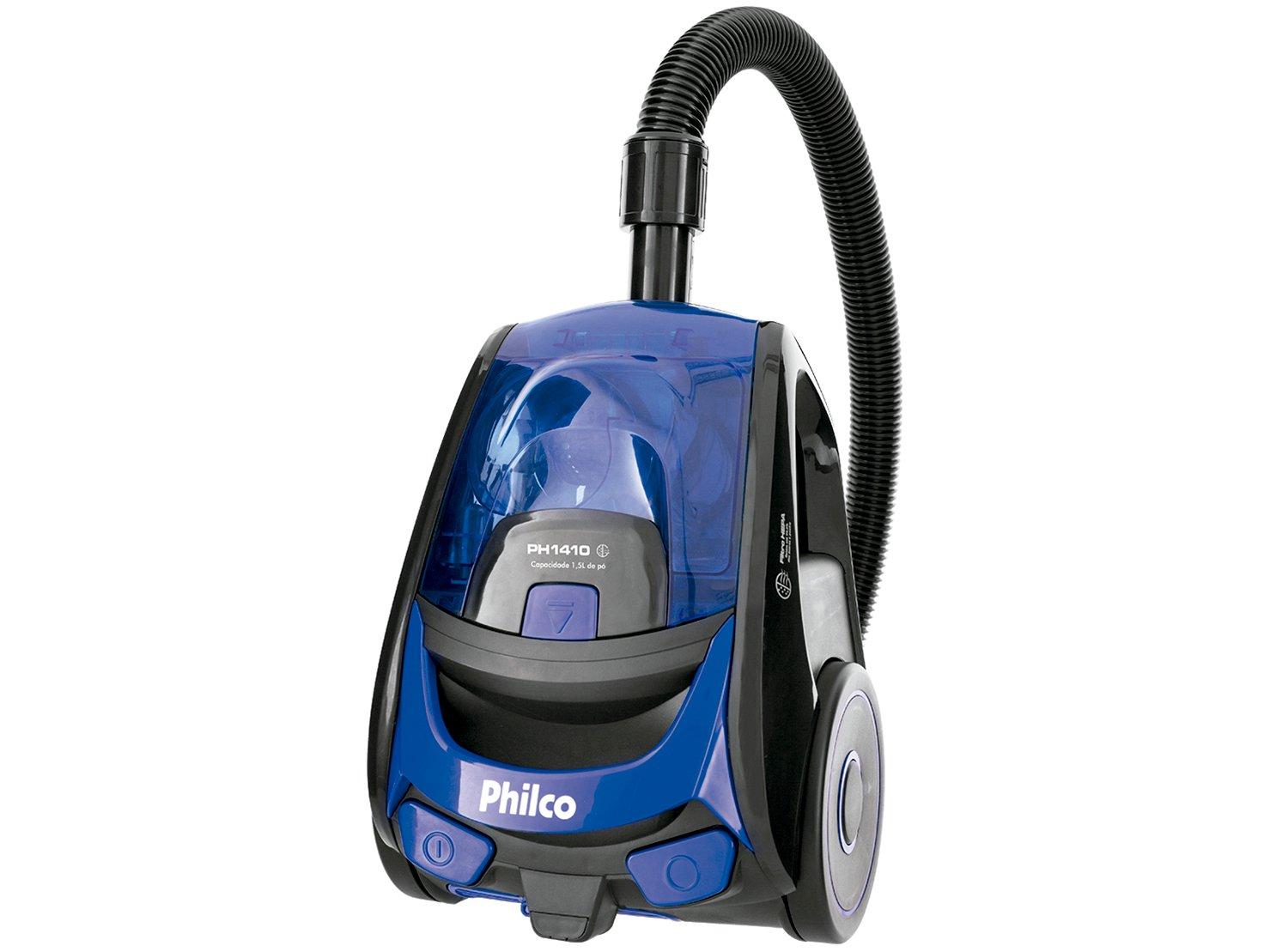 Aspirador de Pó Philco PH1410 1400W - Preto/Azul - 110v - 2