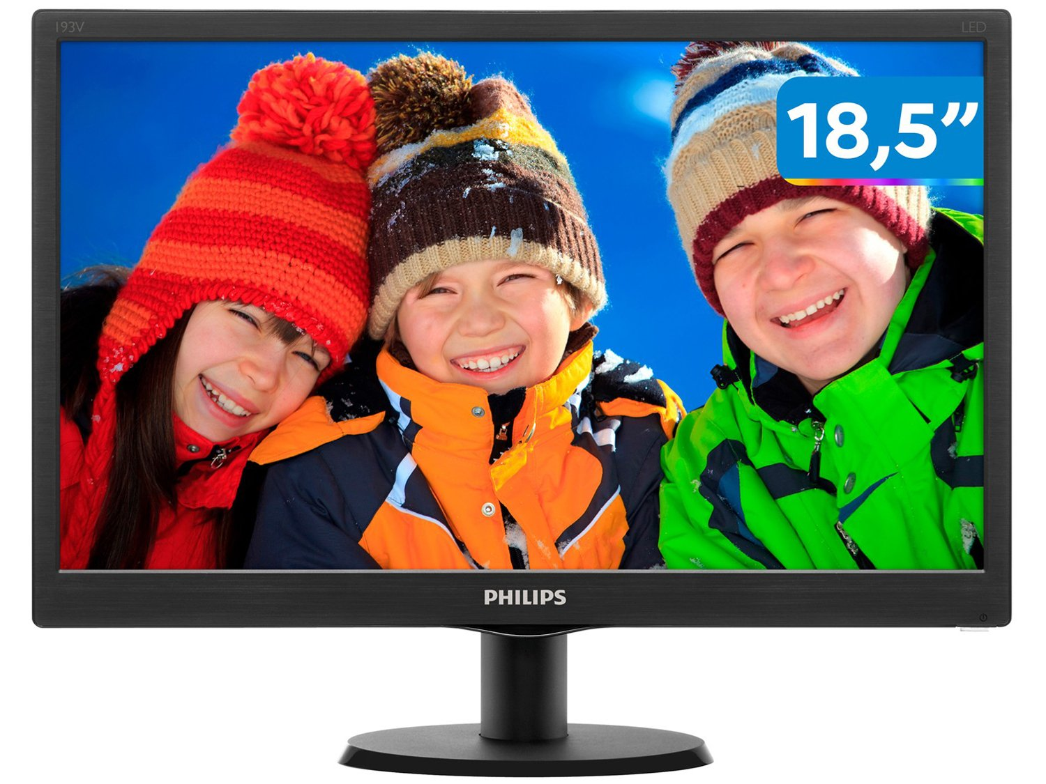 Foto 1 - Monitor para PC HD Philips LED Widescreen 18,5 - 193V5LSB2