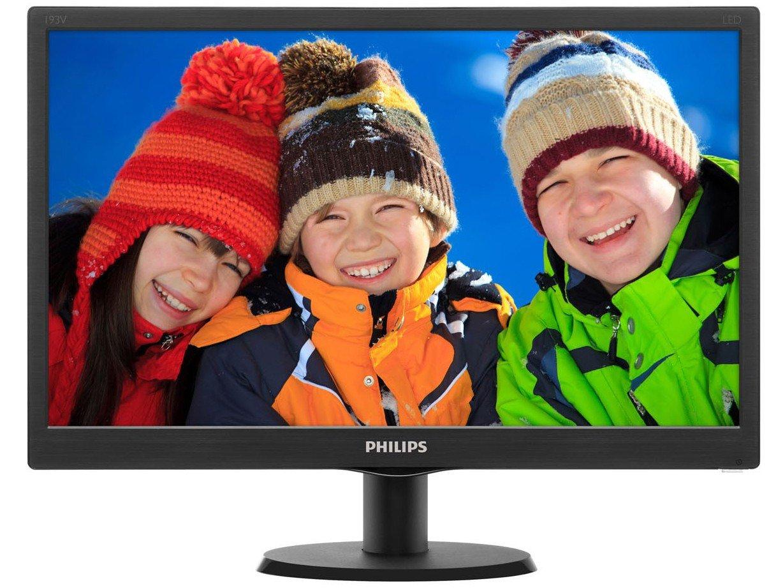 Foto 3 - Monitor Philips LED 18,5 HD Widescreen - 193V5LSB2