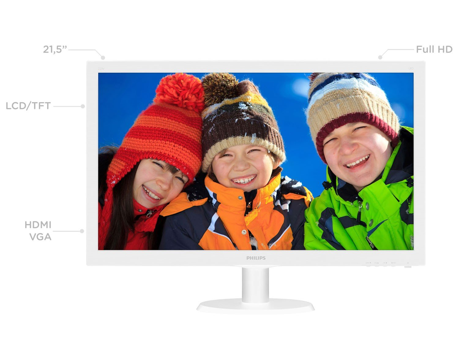 Foto 2 - Monitor para PC Full HD Philips LCD Widescreen - 21,5 223V5LHSW