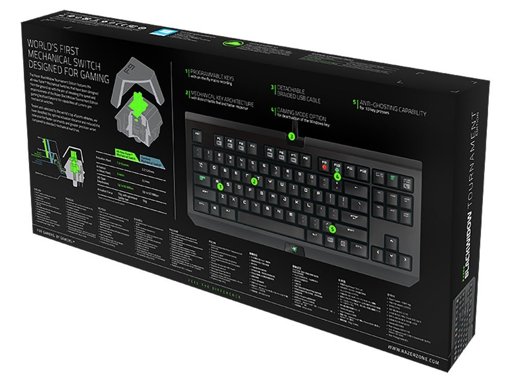 Foto 6 - Teclado Gamer USB - BlackWidow X Tournament Edition Chroma Razer