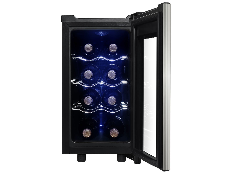 Foto 2 - Adega Climatizada Midea 8 Garrafas Liva - Painel Touch Controle Digital de Temperatura