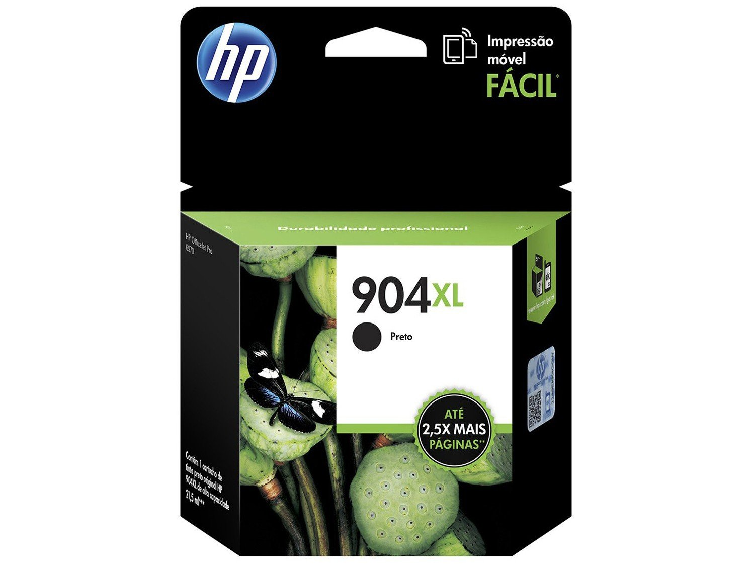 Cartucho de Tinta HP Preto 904XL - Original para HP 6970