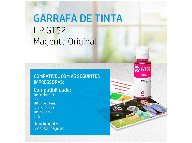 Garrafa de Tinta HP GT52 Magenta – M0H55AL - 4