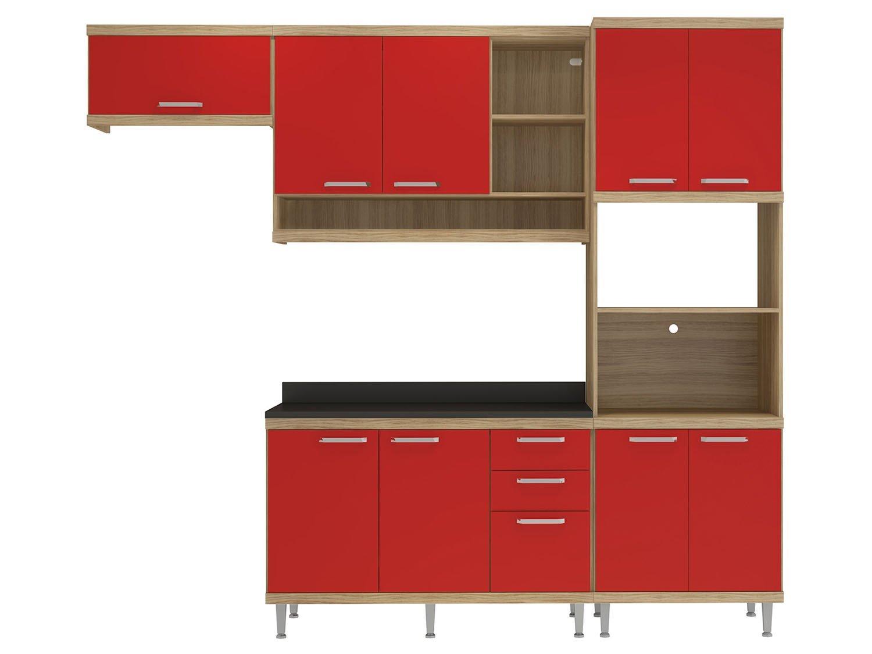 Foto 2 - Cozinha Compacta Multimóveis Linea Sicília - com Balcão Nicho para Forno ou Micro-ondas