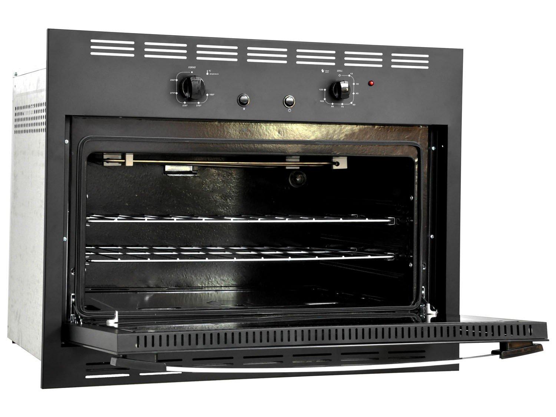 Foto 2 - Forno de Embutir a Gás GLP Venax Totale Nero GII - 18323 90L Grill Timer