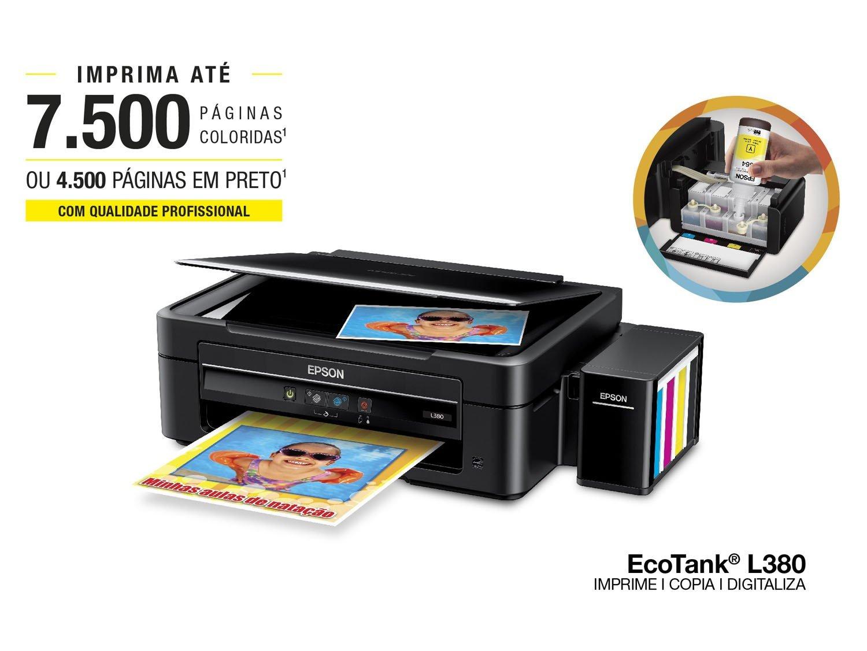 Foto 1 - Multifuncional Epson EcoTank L380 Tanque de Tinta - Colorida USB 2.0