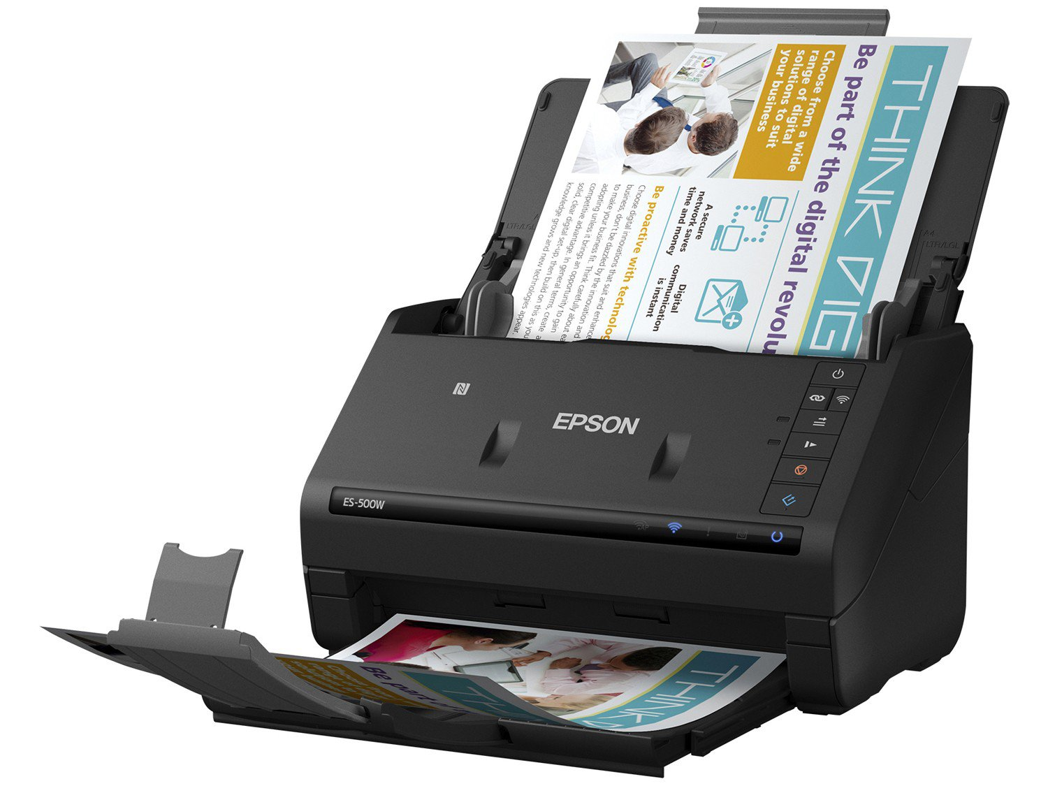 Foto 1 - Scanner de Mesa Epson WorkForce ES500W - Colorido Wireless 600dpi