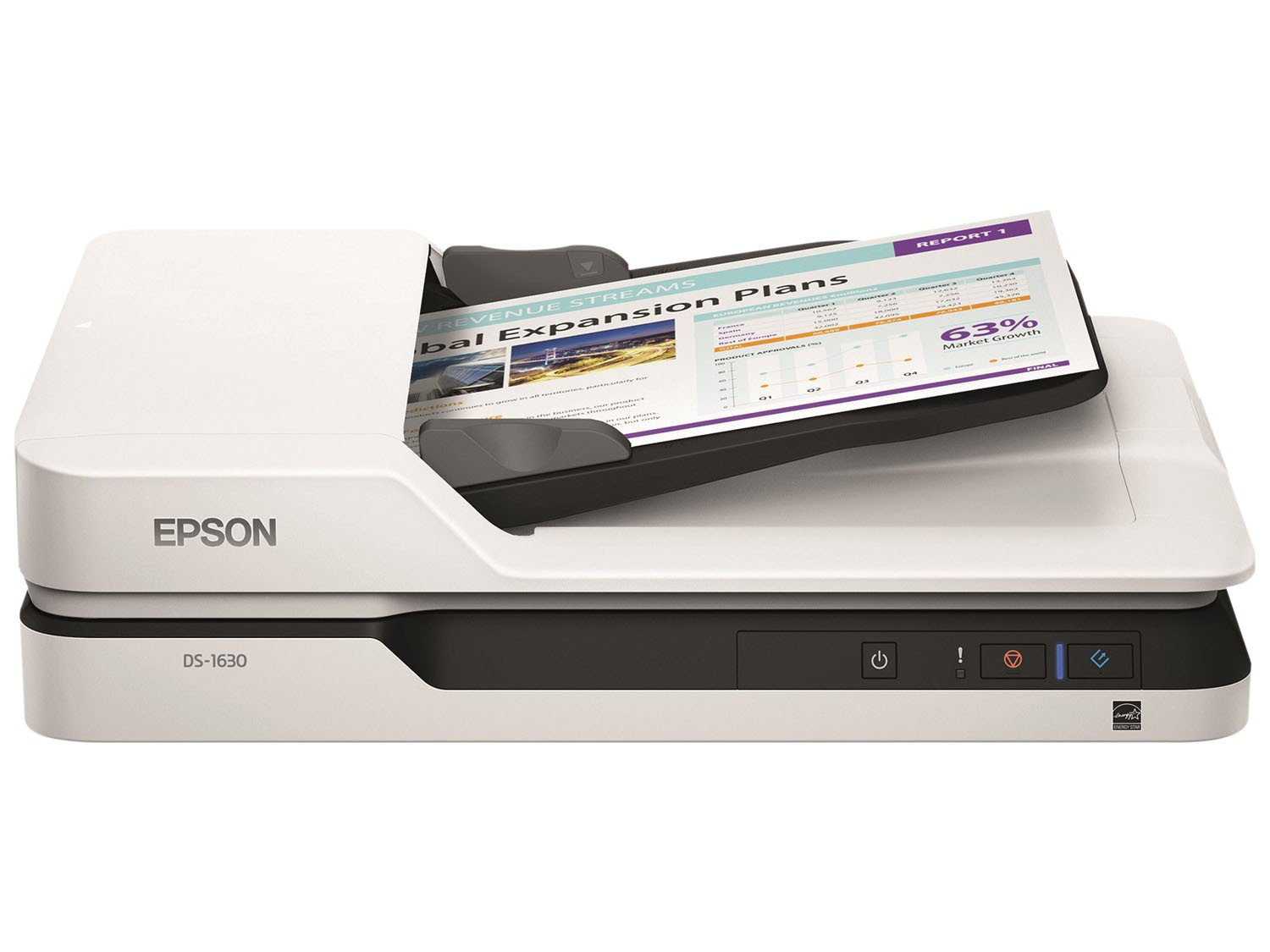 Foto 1 - Scanner de Mesa Epson WorkForce DS-1630 - Colorido 1200dpi
