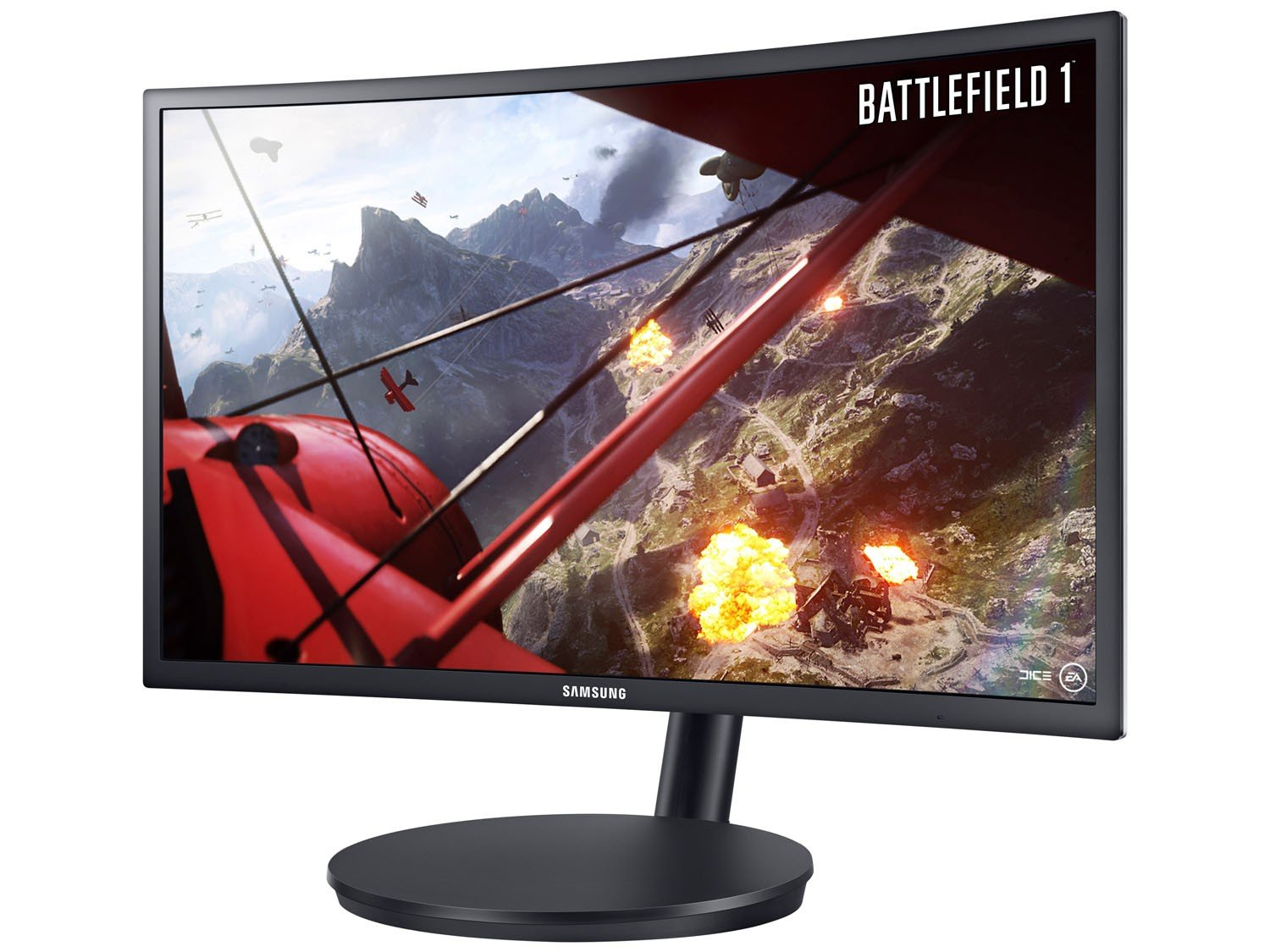 Foto 6 - Monitor Gamer Samsung Curvo 23,5 Full HD - LC24FG70