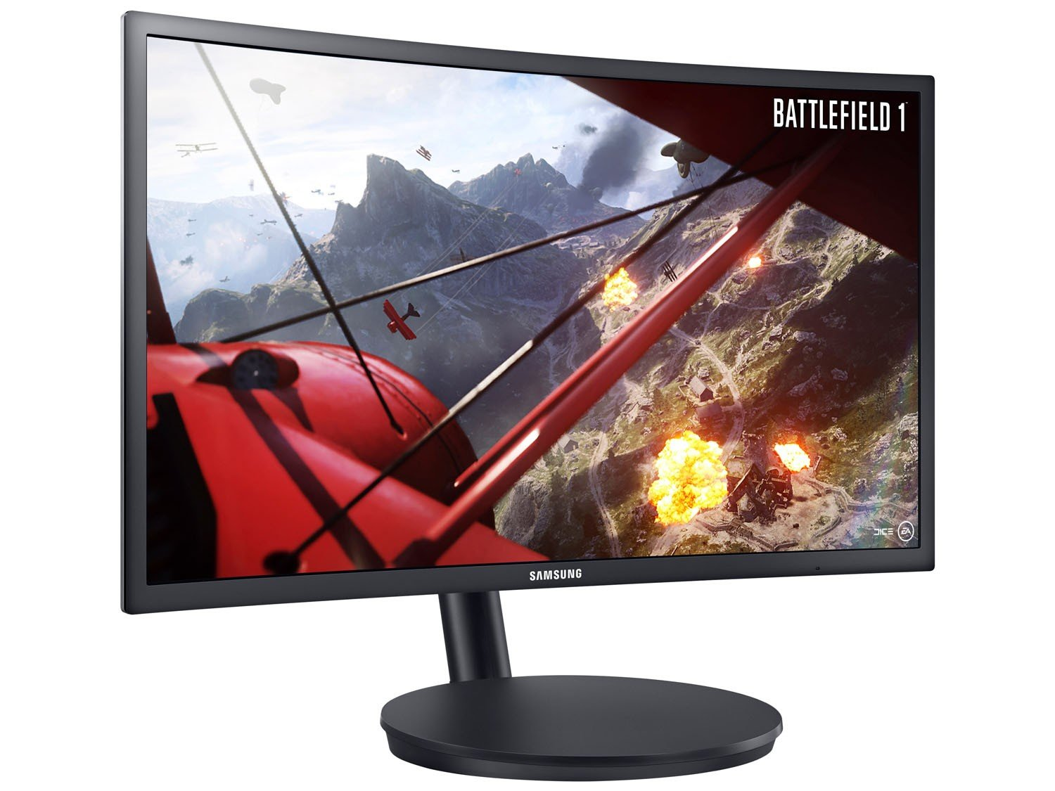 Foto 8 - Monitor Gamer Full HD Samsung LED Curvo 23,5 - LC24FG70