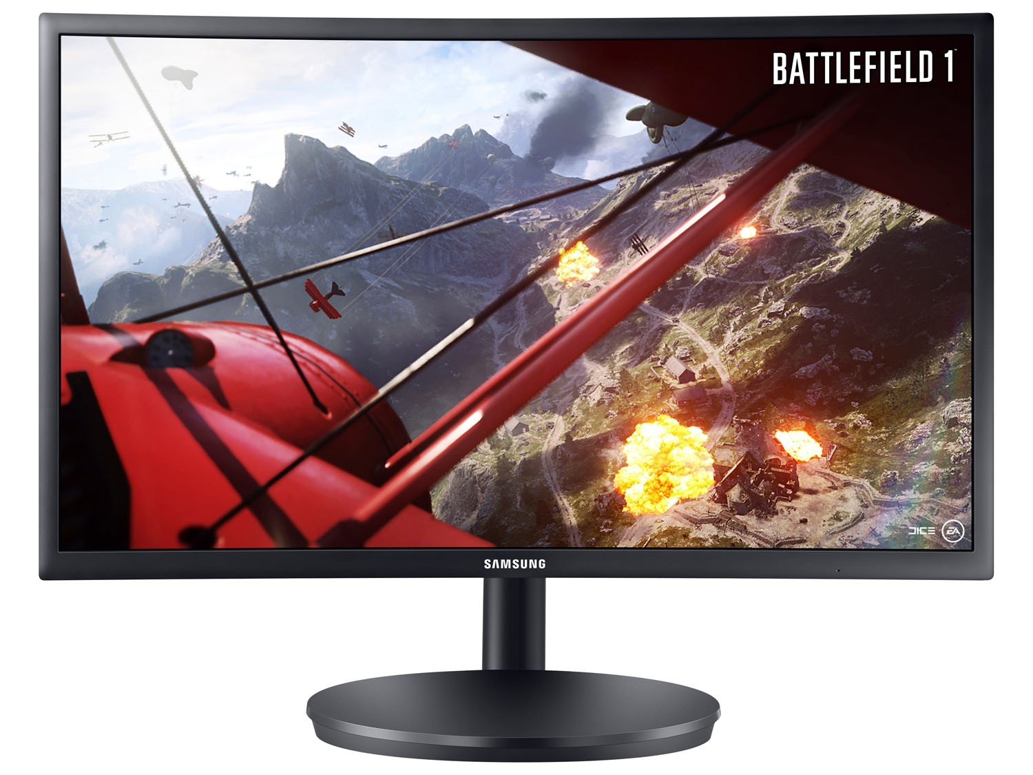 Foto 10 - Monitor Gamer Full HD Samsung LED Curvo 23,5 - LC24FG70