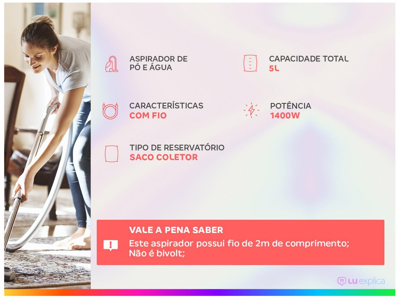 Aspirador de Água e Pó Electrolux Hidrolux AWD01 1250W - 110V - 2