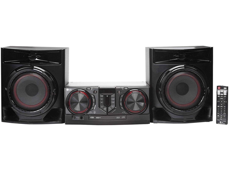 Mini System LG Bluetooh USB MP3 CD Player 440W - Karaokê CJ44 X Boom - Bivolt