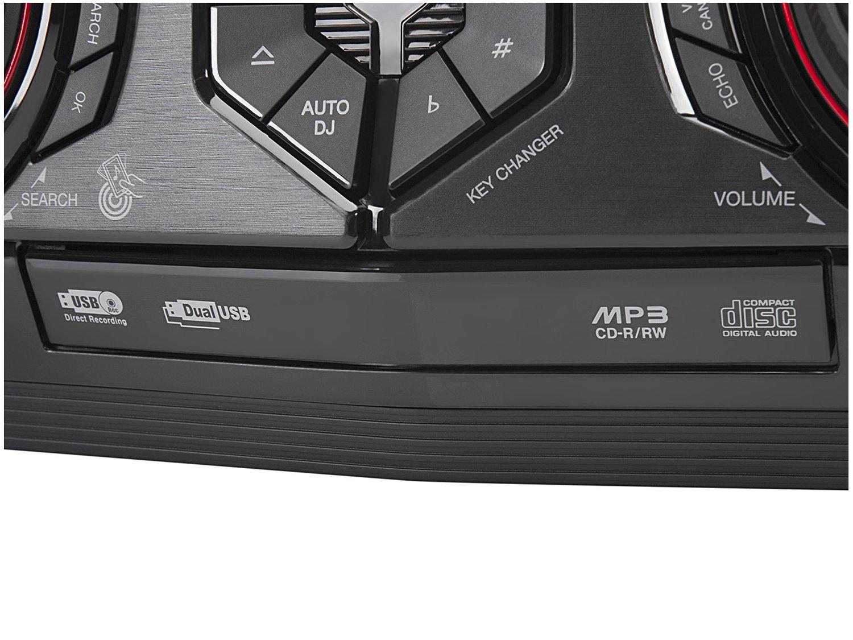 Mini System LG Bluetooh USB MP3 CD Player 440W - Karaokê CJ44 X Boom - Bivolt - 12