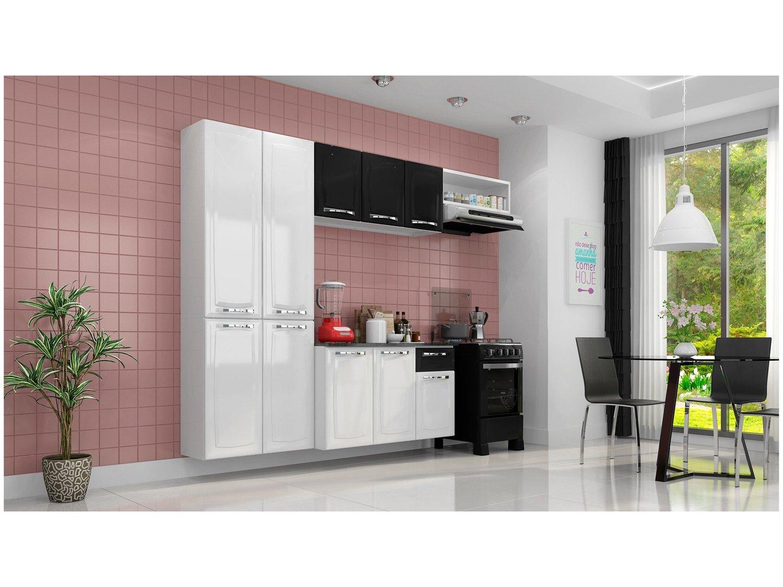 Cozinha Itatiaia Amanda com 10 Portas e 1 Gaveta - Branca/Preta - 1