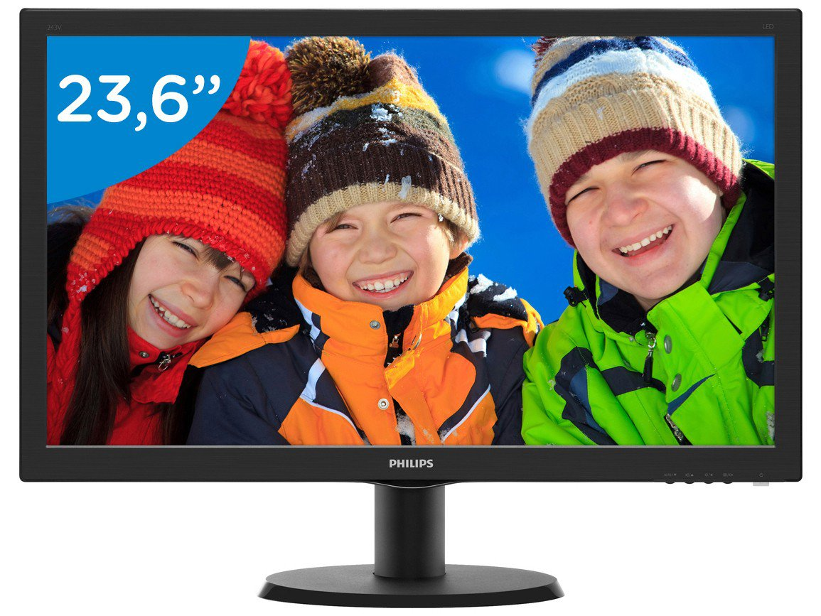 Foto 1 - Monitor para PC Full HD Philips LCD Widescreen - 23,6 243V5QHABA