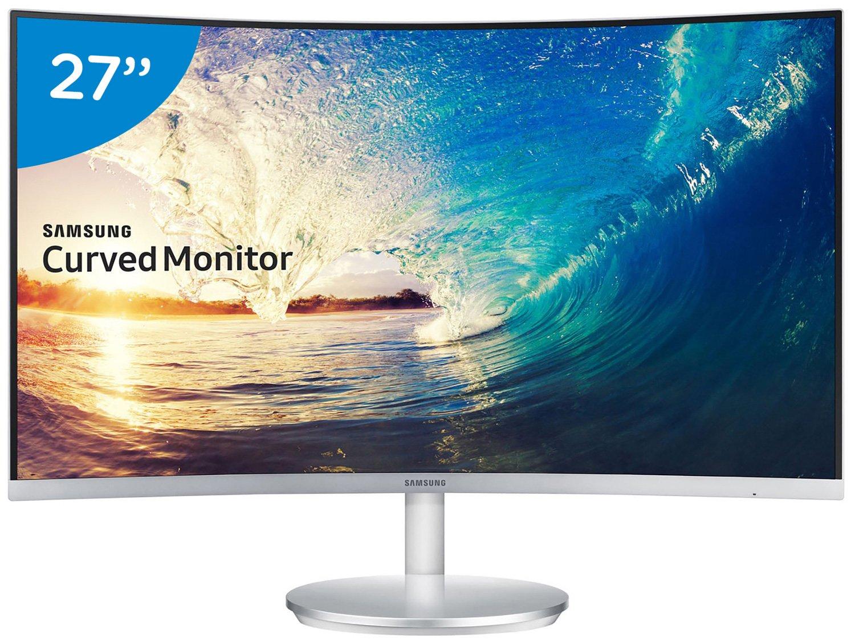 Foto 6 - Monitor para PC Full HD Samsung LED Curvo - Widescreen 27 C27F591FDL