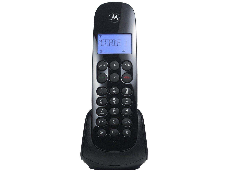 Telefone Digital Sem Fio Motorola MOTO700 com Identificador de Chamadas e Visor - Preto