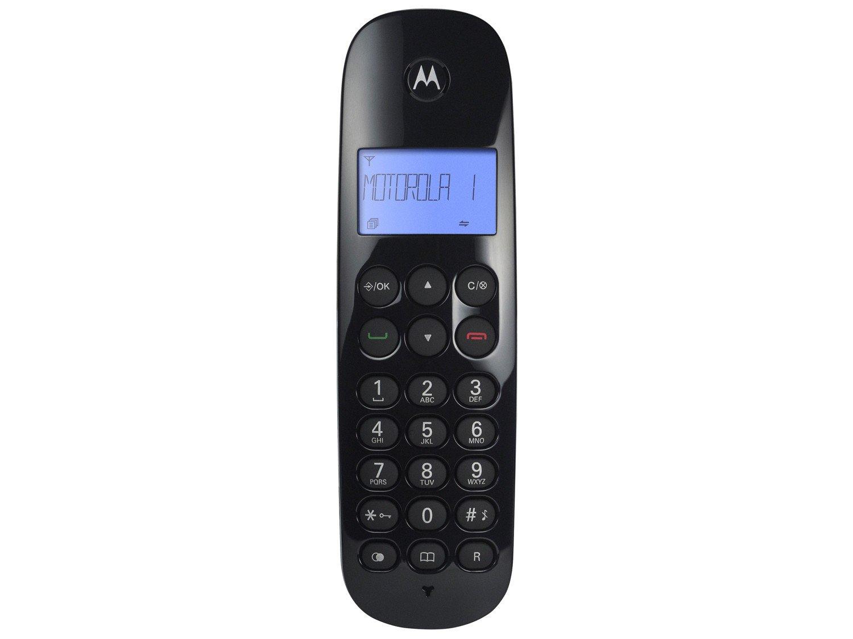 Telefone Digital Sem Fio Motorola MOTO700 com Identificador de Chamadas e Visor - Preto - 3