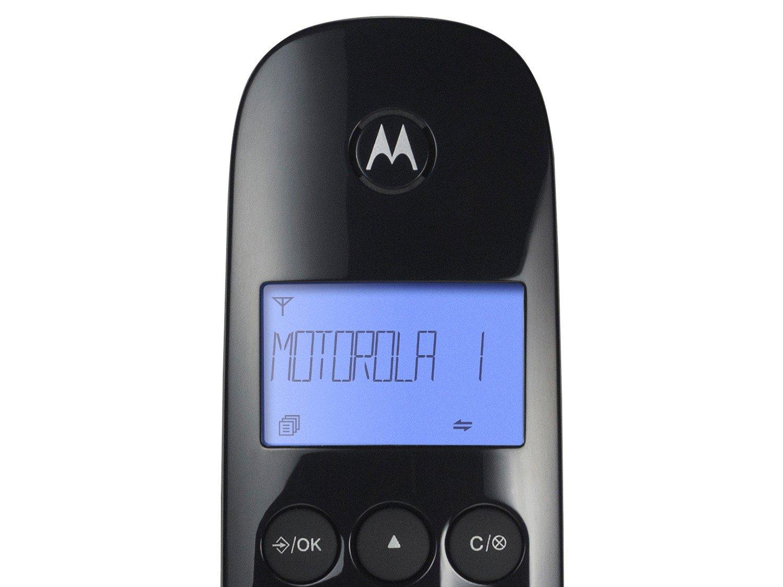 Telefone Digital Sem Fio Motorola MOTO700 com Identificador de Chamadas e Visor - Preto - 6