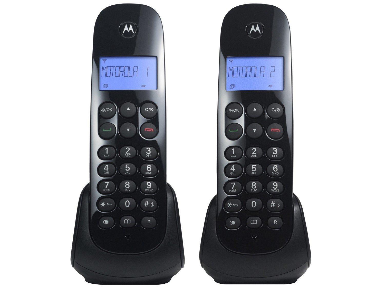 Telefone Digital Sem Fio Motorola MOTO700-MRD2 com Identificador de Chamadas, Display Iluminado e 1 Ramal - Preto