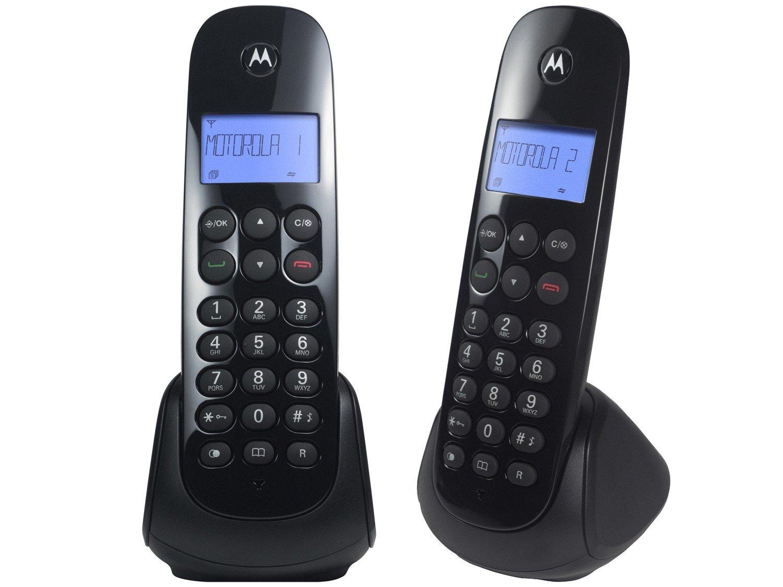 Telefone Digital Sem Fio Motorola MOTO700-MRD2 com Identificador de Chamadas, Display Iluminado e 1 Ramal - Preto - 3
