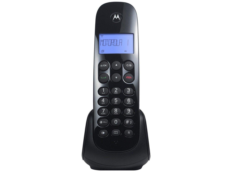 Telefone Digital Sem Fio Motorola MOTO700-MRD2 com Identificador de Chamadas, Display Iluminado e 1 Ramal - Preto - 6