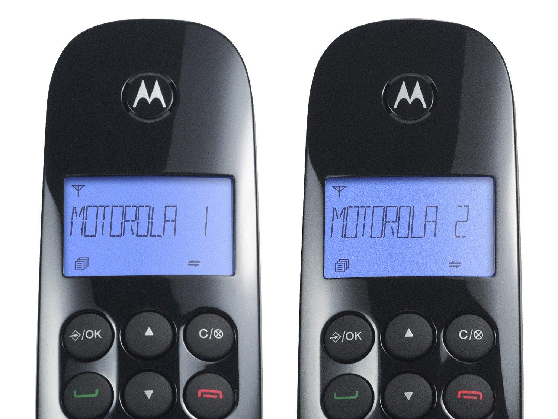 Telefone Digital Sem Fio Motorola MOTO700-MRD2 com Identificador de Chamadas, Display Iluminado e 1 Ramal - Preto - 9