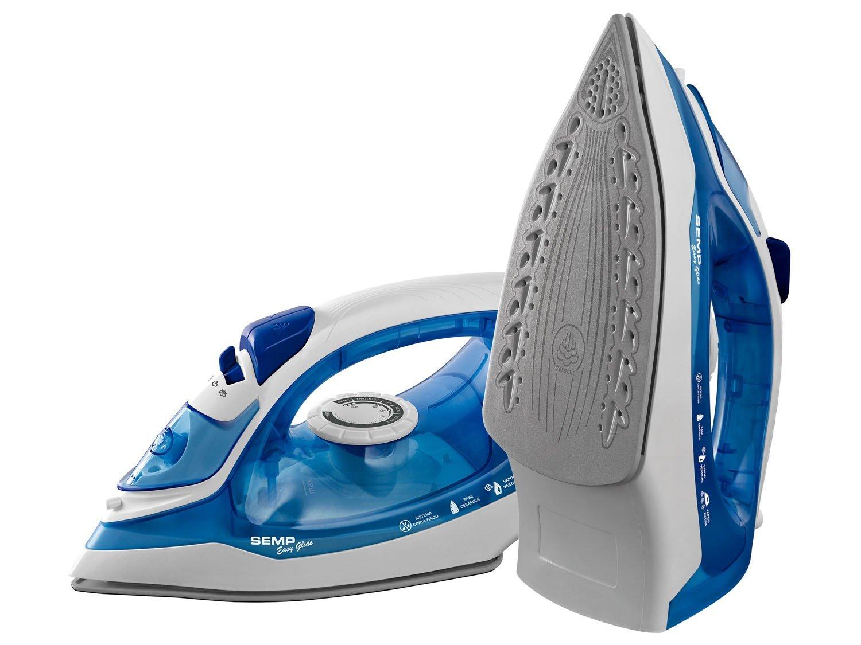 Foto 1 - Ferro de Passar a Vapor Semp Soft Easy Glide - Azul e Branco