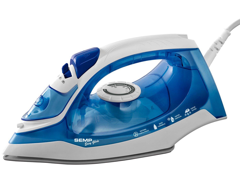 Foto 2 - Ferro de Passar a Vapor Semp Soft Easy Glide - Azul e Branco