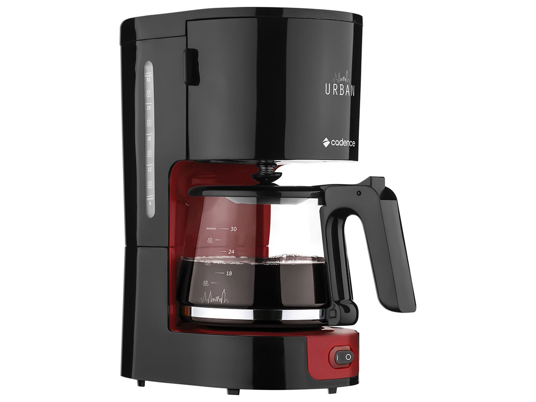 Cafeteira Elétrica Cadence Urban - 30 Xícaras Preto e Vermelho - 110 V