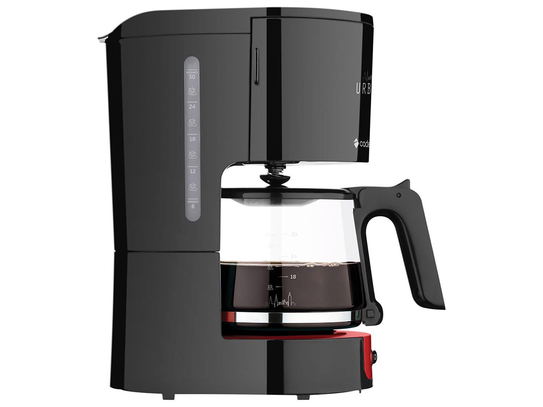Cafeteira Elétrica Cadence Urban - 30 Xícaras Preto e Vermelho - 110 V - 2
