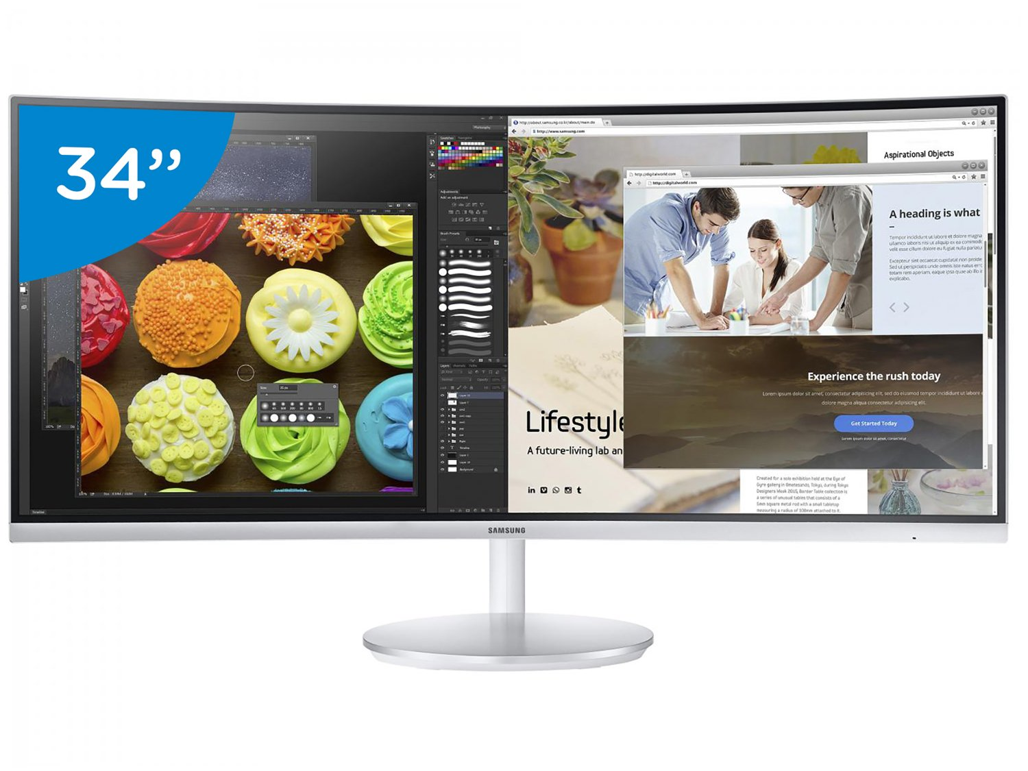 Monitor Samsung LED Curvo 34 Widescreen - C34F791