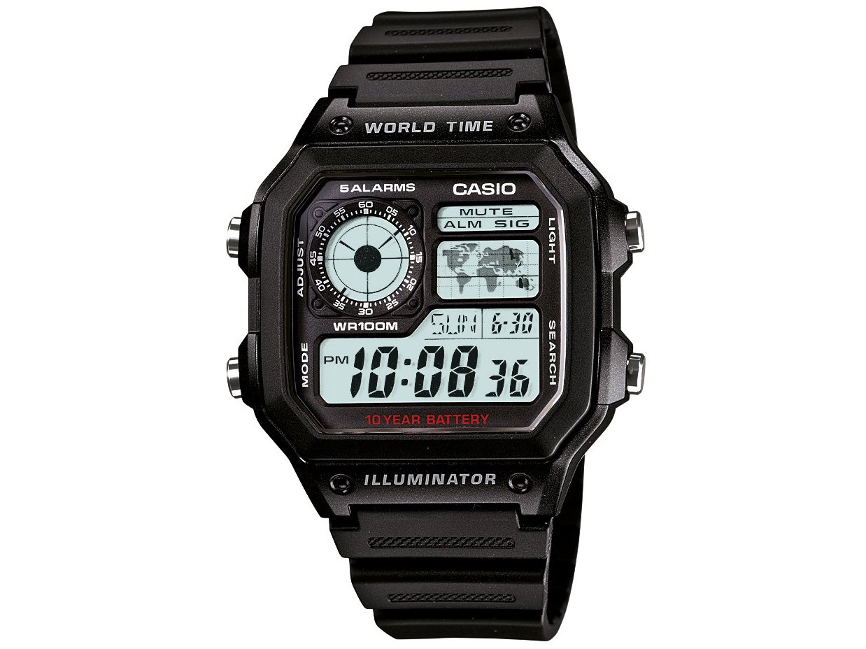 Relógio Digital Casio AE-1200WH-1AVDF Masculino